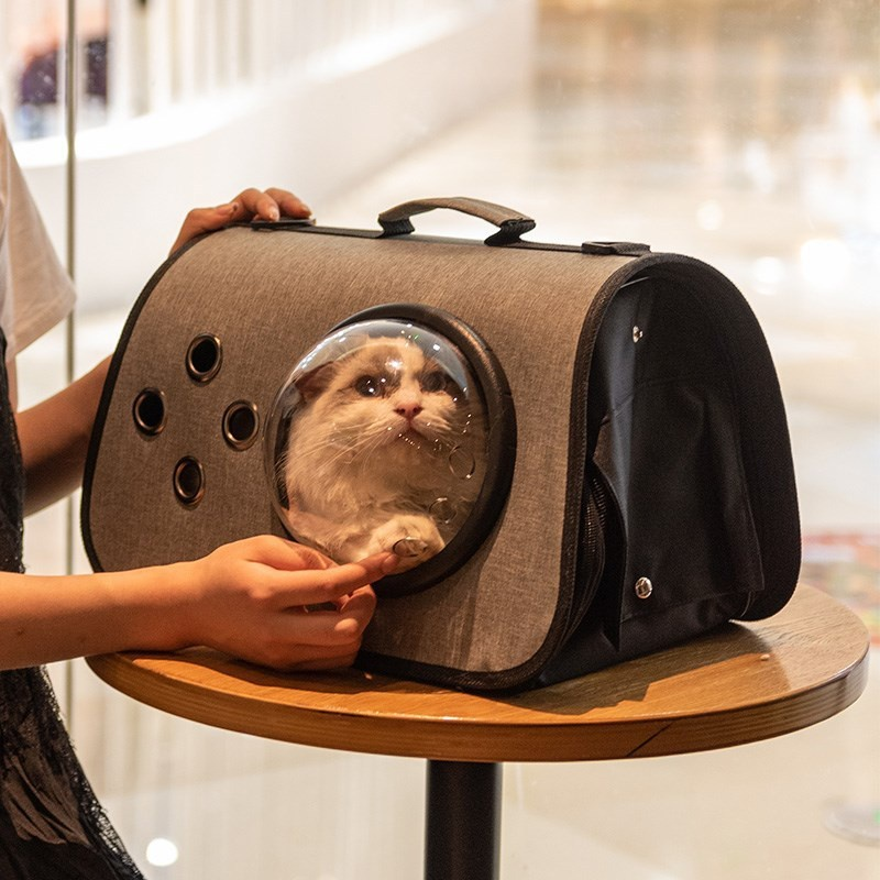 Portable breathable dog space capsule small schoolbag cat medium sized dog bag cat bag pet backpack Backpack