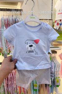 男童分体套头套装宝宝内衣夏天短袖短裤婴儿家居服薄款
