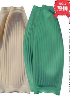 绿色成人加长男女工作餐饮防油橡胶袖套白色乳胶束口水产防水套袖