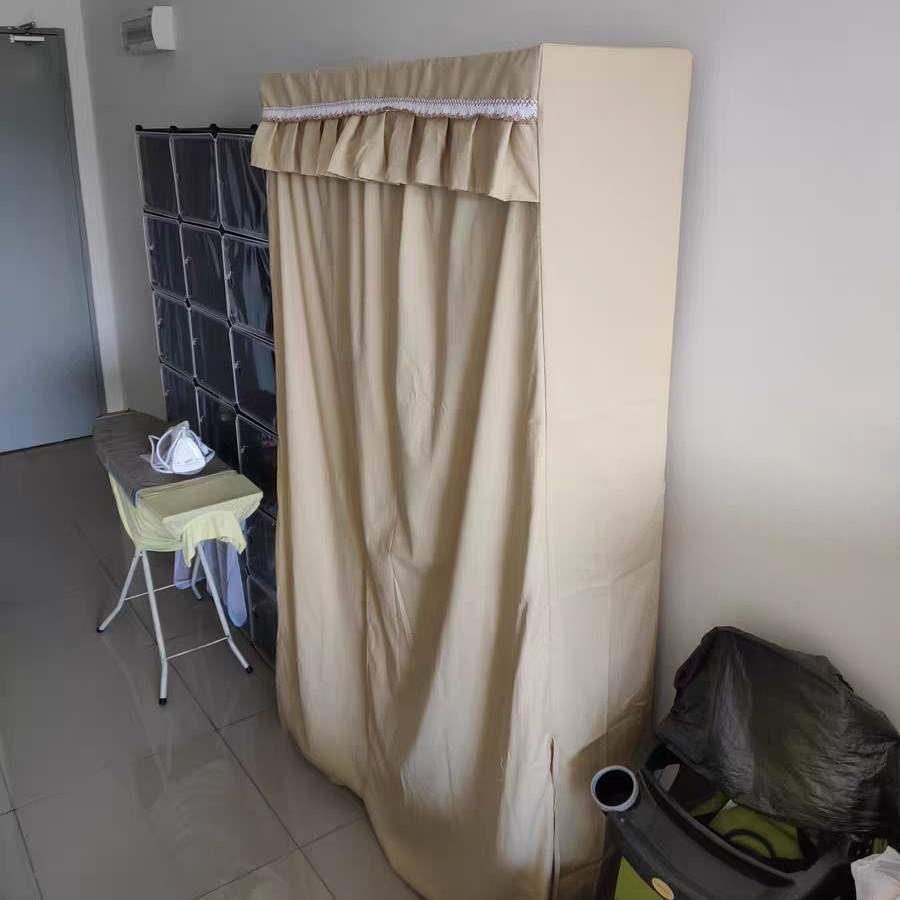 Cloth cabinet cloth cover single sale, thickened canvas shoe rack dust cover custom shelf cover simple wardrobe dust.