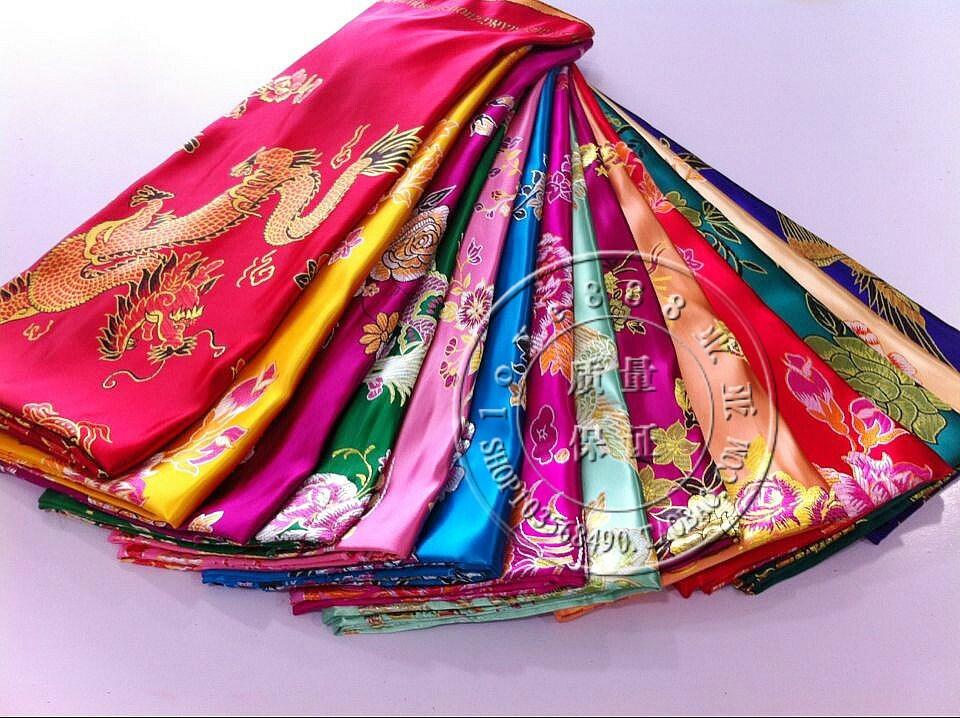 实物拍摄婚庆被面七彩杭州丝绸织锦缎被面子老式被面