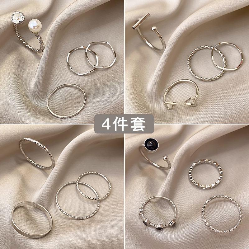 新款女士戒指时尚可爱的小饰品流行戒指个性is潮尾戒设计简约冷淡