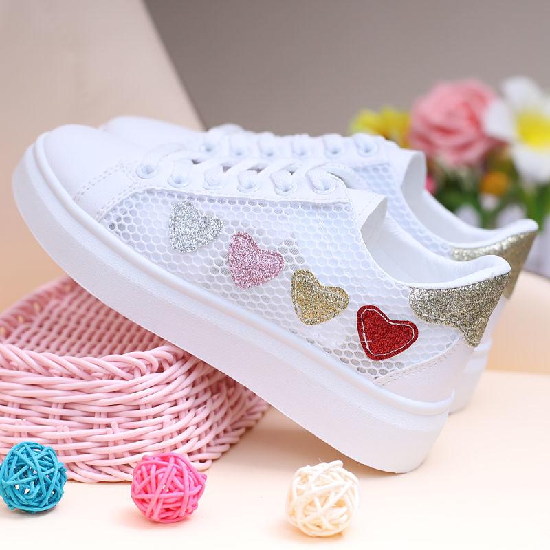 中國代購|中國批發-ibuy99|运动鞋女|女童帆布鞋2021夏季儿童鞋子中大童网面运动板鞋透气小学生休闲鞋