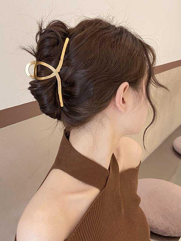 扎半头的发夹特大号抓夹发量多盘头发用的气质高级大气脑后勺女夏