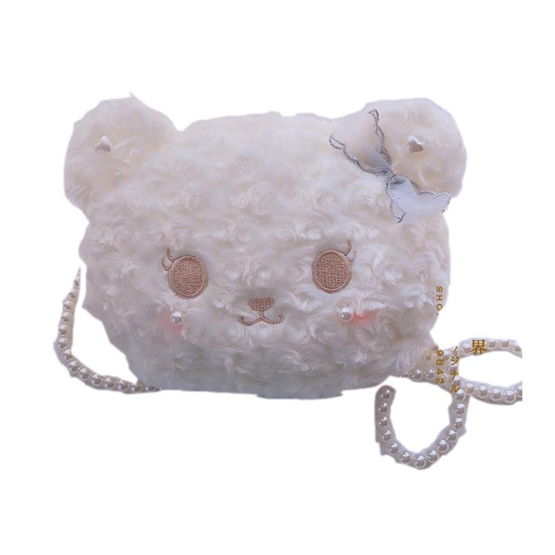 洛丽塔lo娘斜跨熊包软妹兔包日系可爱熊包斜挎包软妹jk包包