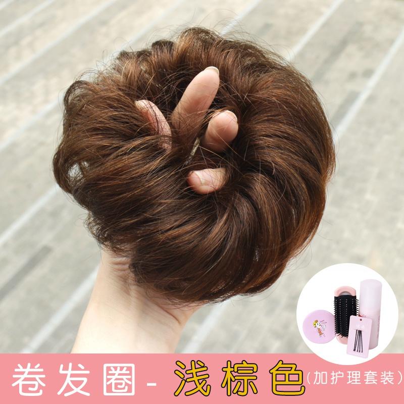 头花苞发卷发头发髻丸子发包圈盘头饰发包团子假发假圈