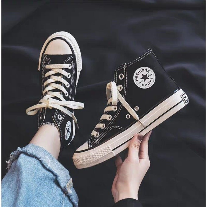Spring and autumn new canvas shoes girls boys canvas shoes middle and large childrens womens shoes high top and low top casual sneakers printed shoes