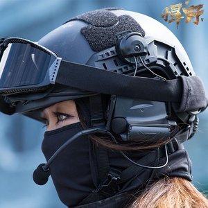 快速反应多功能头盔头罩骑行CS防护钢盔帽二级头装备伪装布盔布套