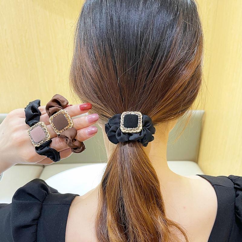 中國代購|中國批發-ibuy99|女士饰品|扎头发饰品精致高档皮套女士头绳大人时尚洋气皮筋扎高马尾的发绳