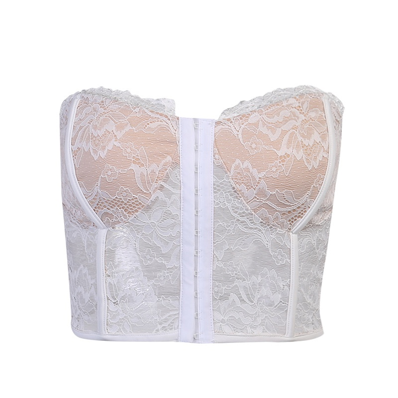 Ciseonik Europe and the United States niche ins lace hook and buckle wrapped chest womens Europe and the United States pattern edge waist I-shaped vest