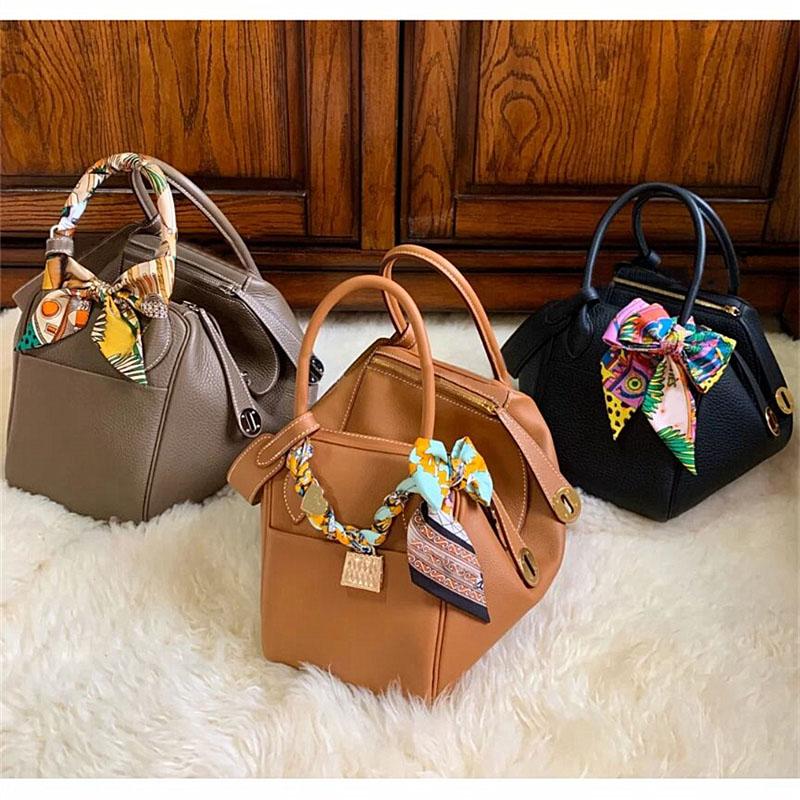 2021 new fashion lychee pattern Lindi Bag Mini Doctor Bag Leather Womens bag one shoulder cross carry on bag medicine case bag