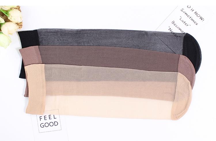 15双夏季水晶丝超薄款短丝袜防勾丝耐磨隐形透明黑肉色中筒袜子女