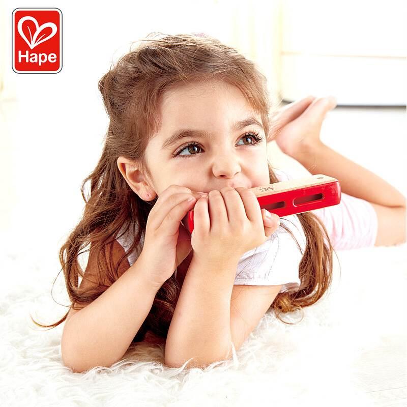 1浸润木质口琴3蓝调10-hape木儿童儿童风琴口琴口琴音阶玩具蜡口-