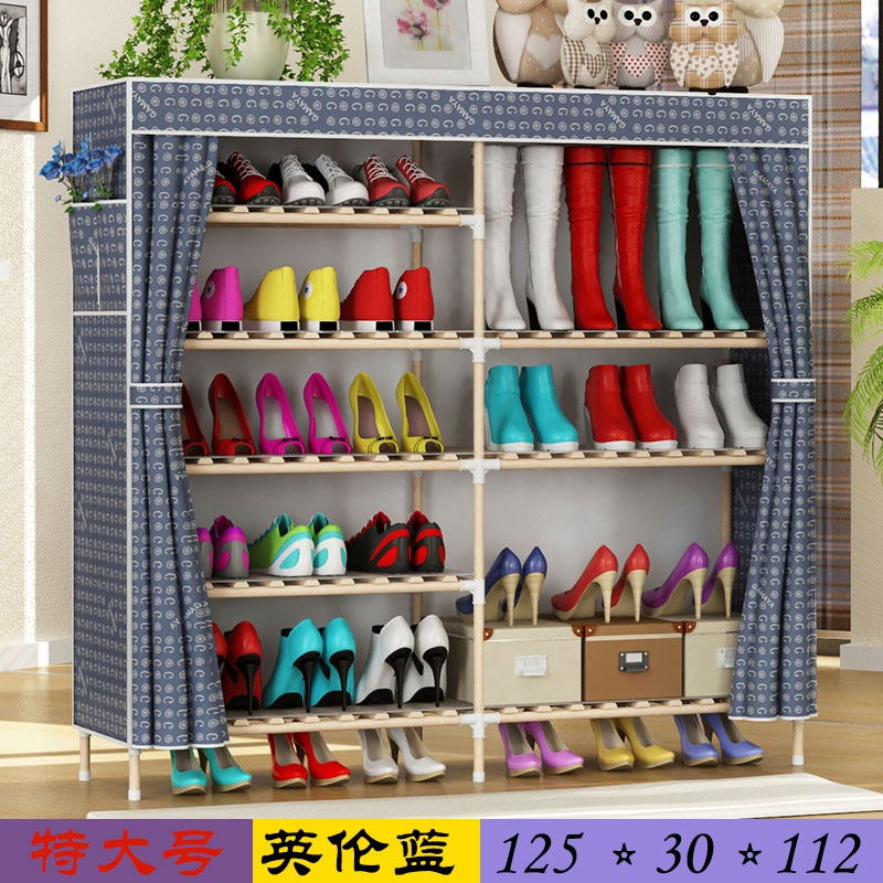 Cabinet oxford shoe rack V simple assembly storage shoes multi-layer thickened dust-proof reinforced canvas modern simple
