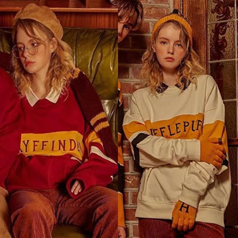 哈利波特Harry Potter联名同款 SP学院加绒AO合作情侣衣服cec卫衣