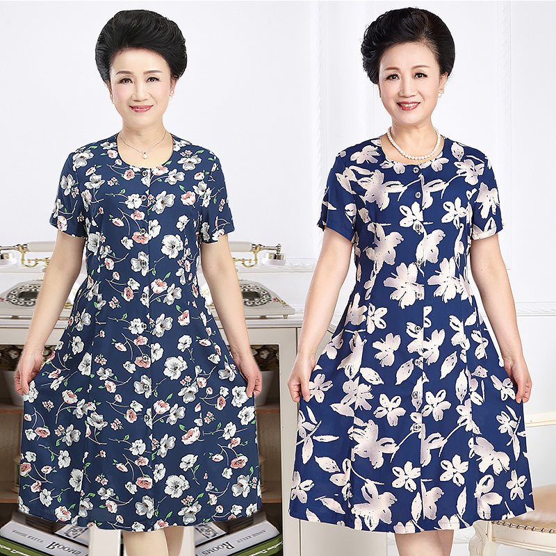 Practical birthday gift for mother-in-law on Mothers Day cotton qunzi 40 suitable for 50 year old womens dress