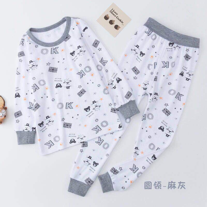 Home collar high and low cotton sweater all girls autumn suit mens wear childrens wear. Childrens autumn pants keep warm