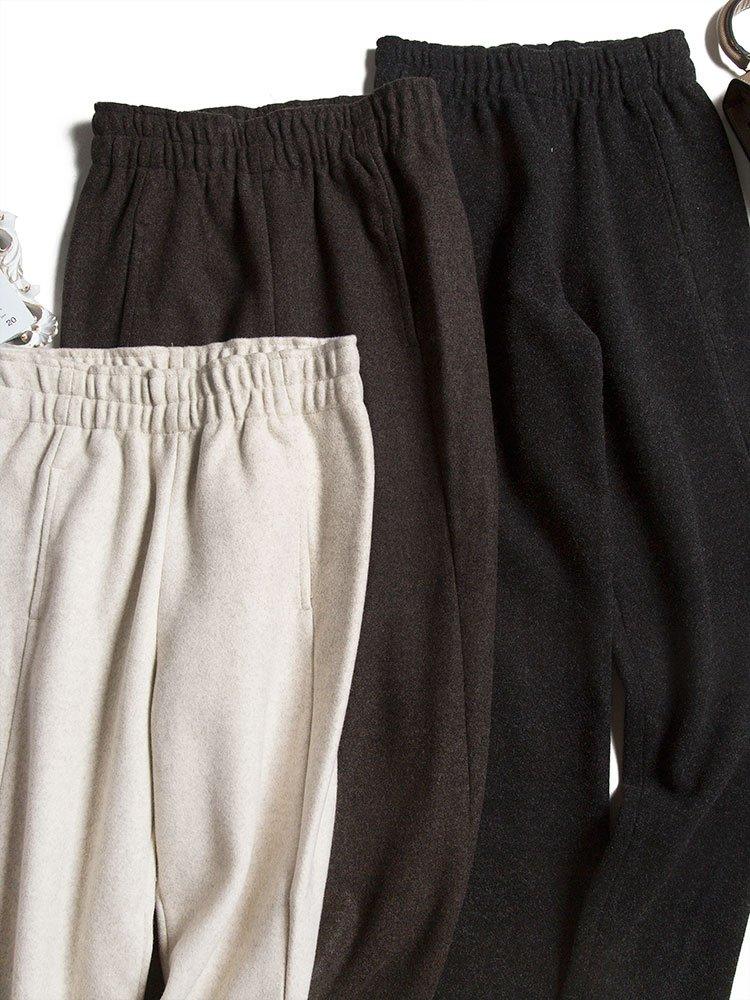 显瘦好穿 复古百搭加厚羊毛裤 毛呢哈伦裤女萝卜裤宽松休闲长裤子