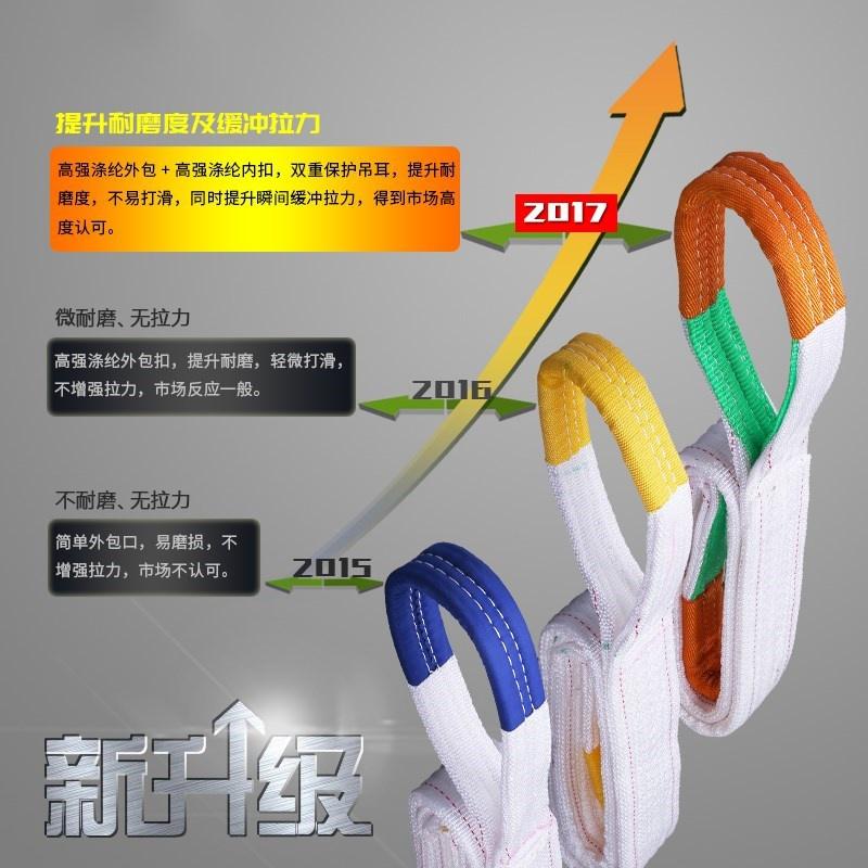 吊带绳子扁平安装空调专用小吊机吊装带吊袋5T起重吊装带定做耐磨