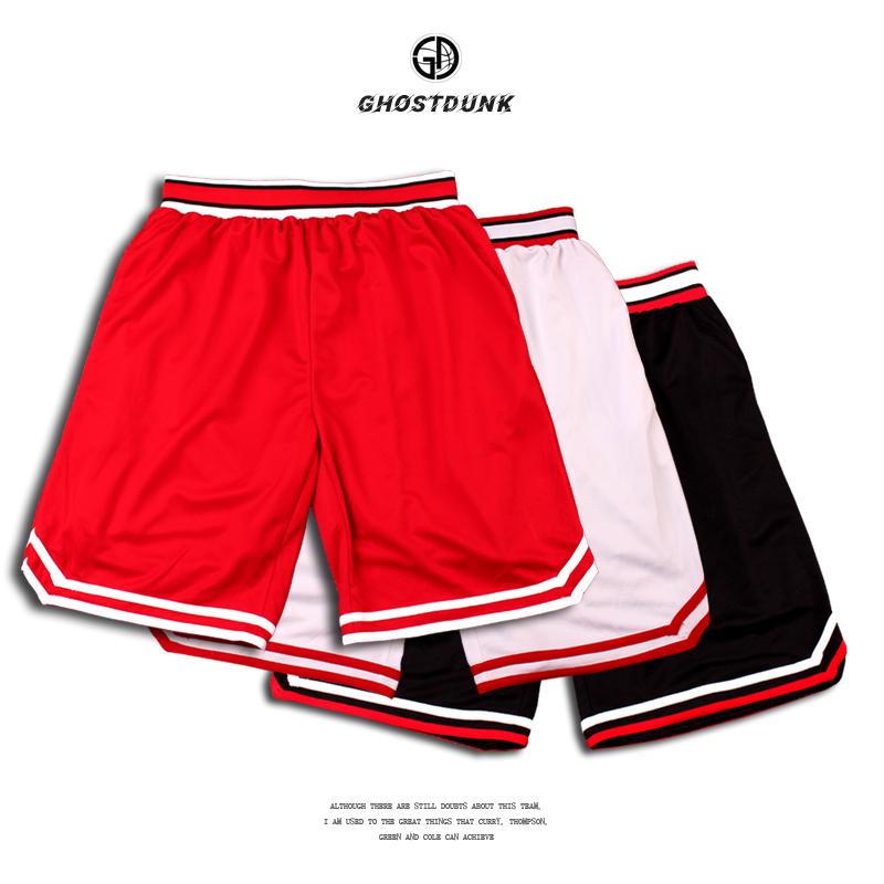 灌篮高手篮球裤男跑步健身速干宽松过膝五分裤训练裤篮球运动短裤