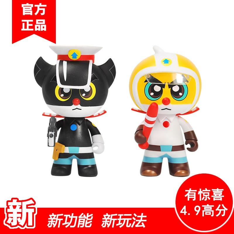 儿童电影淘公仔摆件汽车玩具手办上海班长厂白猫黑猫警长美术