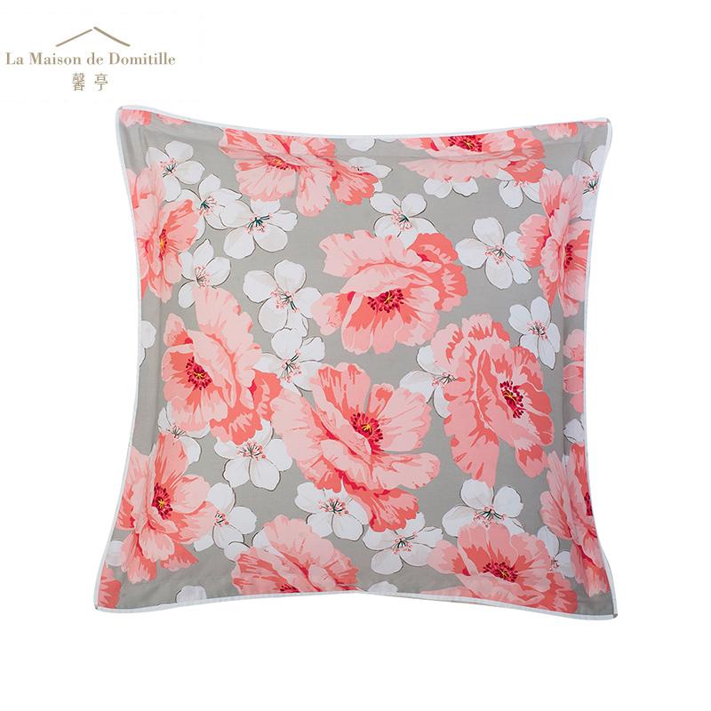 全棉床上用品秋冬新品谢尔贝居家靠垫正方形靠枕一对含芯