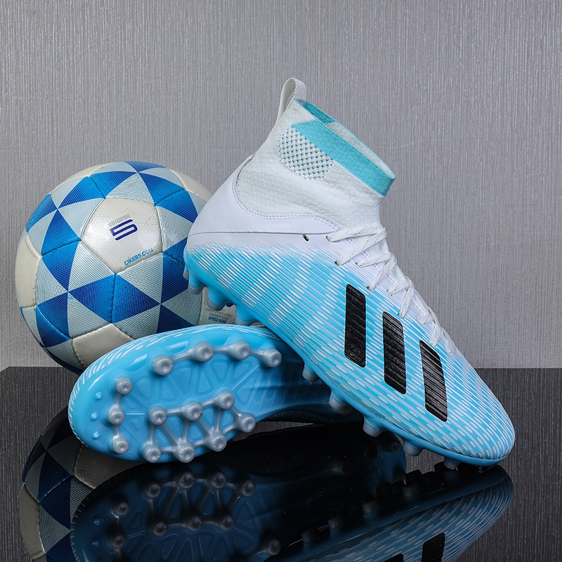 Luoke football shoes mens and womens high top Neymar childrens adult training shoes with broken nails and long nails