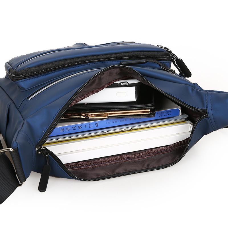 旅行休闲横斜大容量挎包牛津包背包防水男士款男式男包包单肩包布