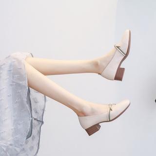 2Y021年春季新款春鞋中粗跟淑女晚晚风温柔女鞋子春天玛丽珍奶奶
