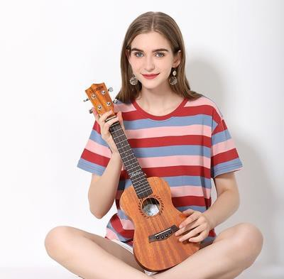 Universal lovely string instrument for adults and children small 23 inch beginner single fresh beginner wooden lining board four you