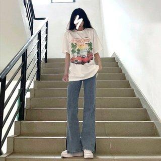 夏季酷酷风格女装小个子甜辣休闲盐系穿搭炸街潮牌阔腿裤两件套装