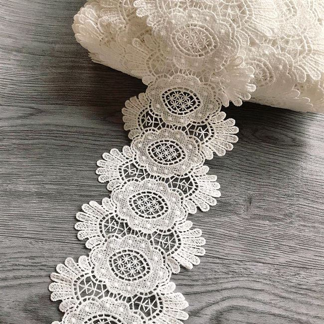 11cm2020 new flower lace seal embroidery pineapple waist silk 2020 belt decoration milk soluble