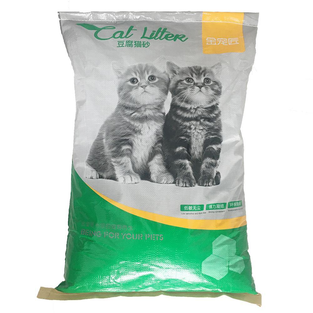 用除猫豆。尘斤公斤10咪无砂沙20砂猫豆腐大砂v斤50邮袋猫满包臭