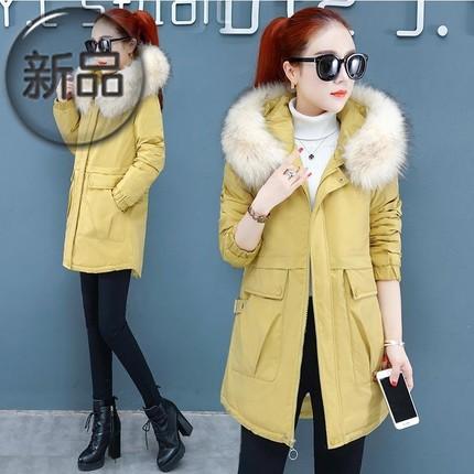 款冬季ins2019年女装服羽绒棉袄厚外套中长火新款冬装棉衣超棉潮i