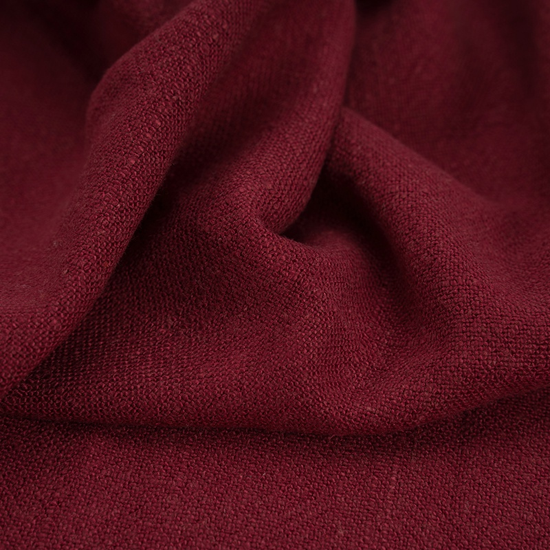 Linen cloth windbreaker dress wash ancient linen solid color fabric bamboo cloth garment pants thickened sand