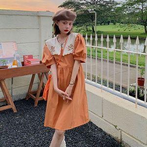 娃娃领夏季2021新款小清新连衣裙