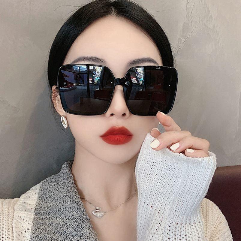 韩版大框方形简约黑偏光墨镜女显脸小时髦街拍太阳镜遮阳潮搭眼镜