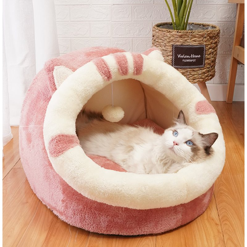 Cat greenhouse winter dog kennel small house four seasons in winter baoditai Christmas nest tree mat Warm Large