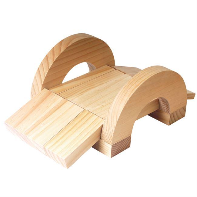 木大幼儿园超大搭玩具区户外积木号大型实构建大块颗粒益智拼原木