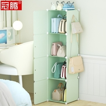 Bag storage Cabinets put bags of shelves rack finishing cabinets multi-layer leather bags home dormitory hanging bag floor cabinets