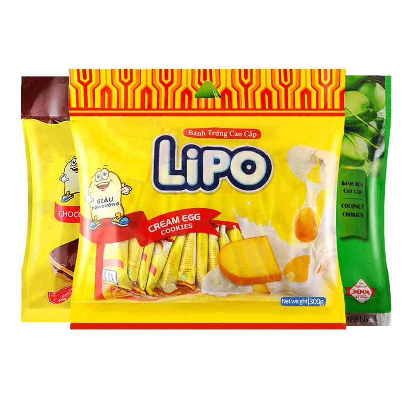 越南进口lipo面包干小包装网红休闲零食品小吃黄油干蛋糕饼干片
