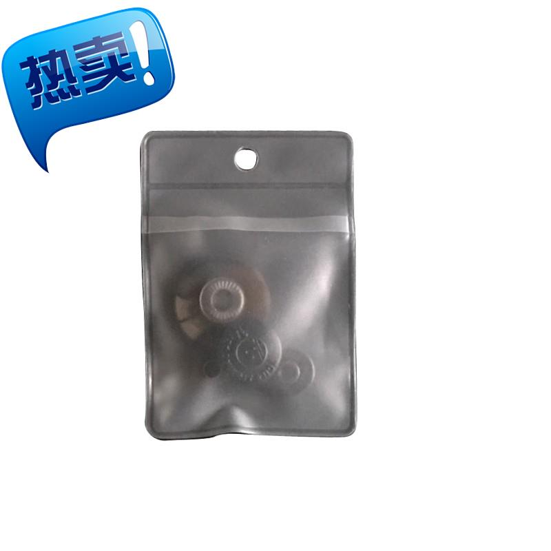 5x7 perforated buckle hanging bag spare transparent spot button brand bag frosted small spare PVC bag button bag