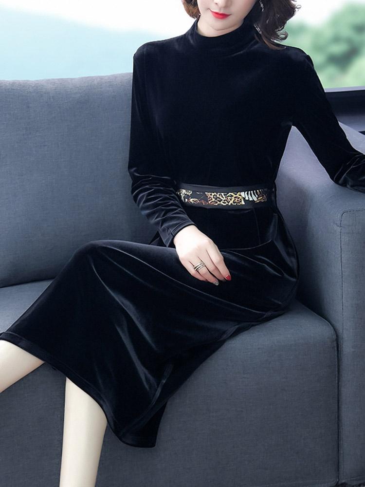 套装女2020年冬新款季胖mm妹妹显瘦大码遮肚子初秋两件套裙装洋气