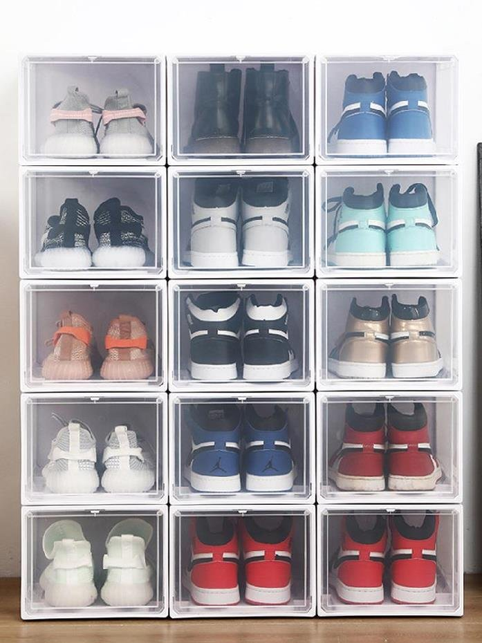 Shoe box containing artifact household shoe rack J practical mens and womens high permeability sports shoes large economic high top