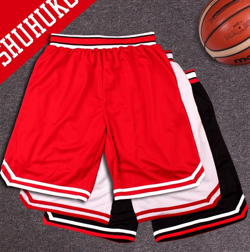 灌篮高手篮球裤男跑步健身速干宽松街头过膝五分裤训练裤运动短裤