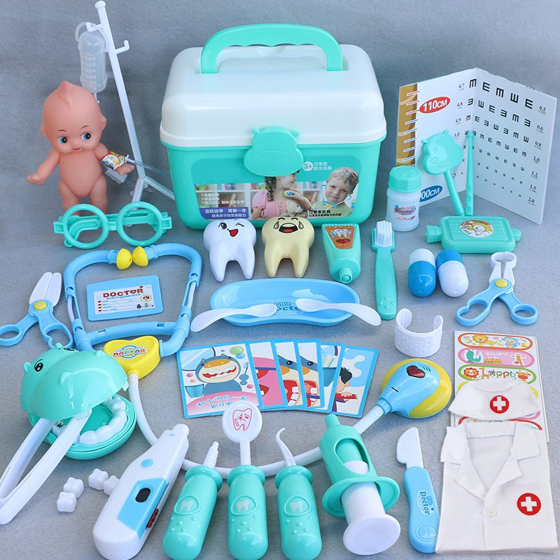Girls toy doctor suit role play boys drip soil protection childrens tools clinic simulation props