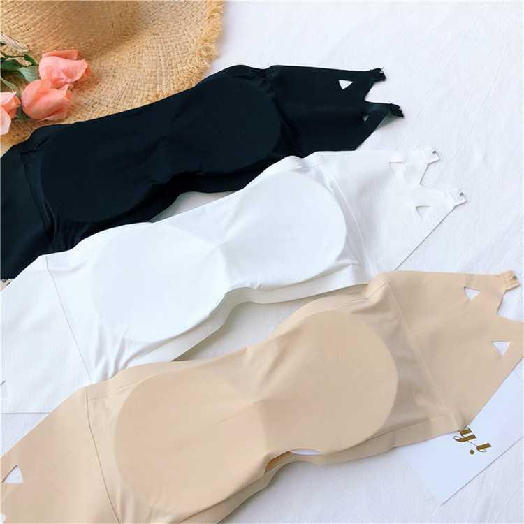 抹胸胸罩内衣很仙的内搭无肩带秋冬法式polo中国风lolita名媛气质
