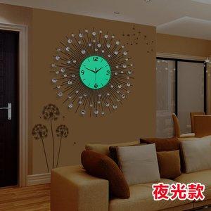 久久达钟表挂钟客厅现代简约欧式夜光时钟静音石X英钟创意铁艺挂