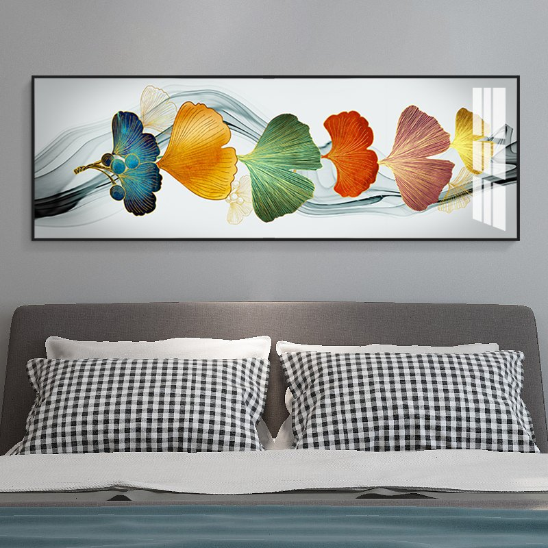 卧室床头横幅客厅沙发现代晶瓷画