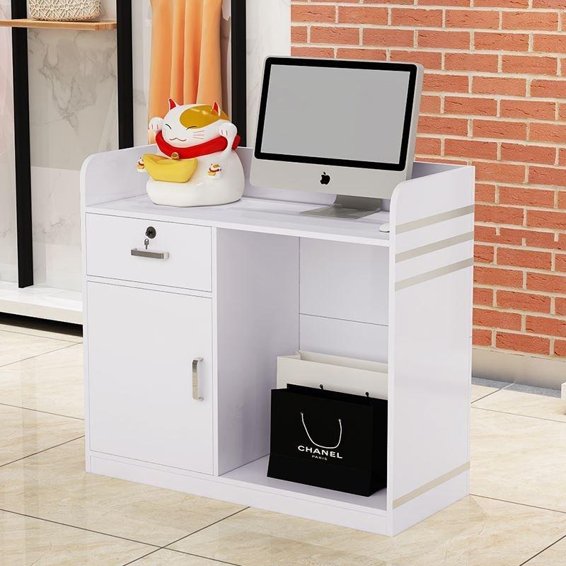 吧台收银台简约现代公司接待柜台超市服装便利店小型前台办公桌子